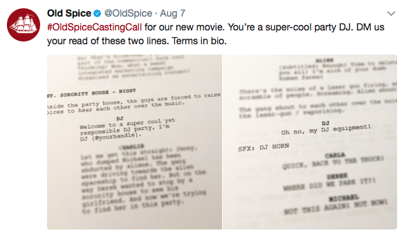 Old Spice Tweet